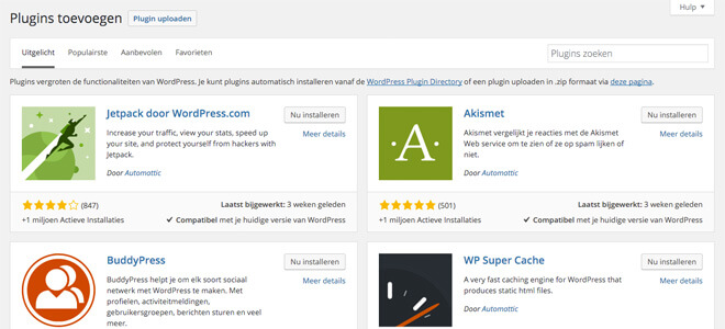 Handige Wordpress plugins