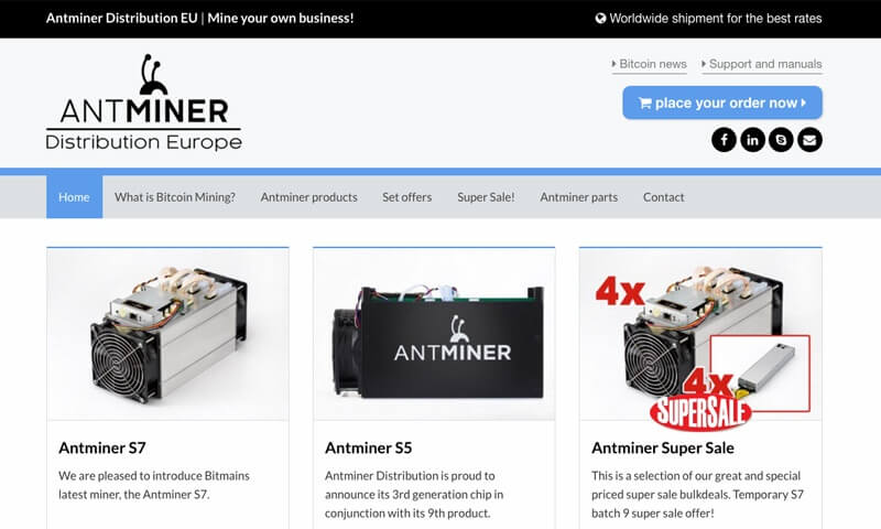 Antminer Distribution website