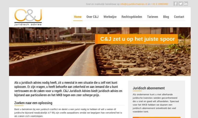 CJ Juridisch advies website