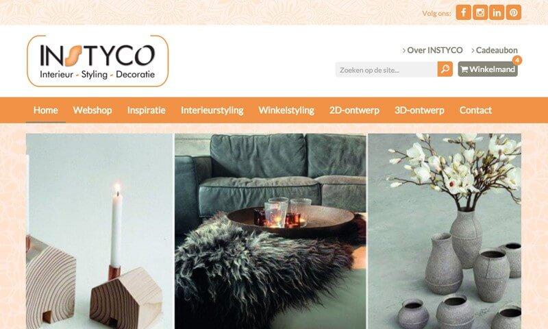 INSTYCO website webshop
