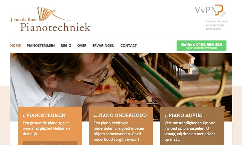 Website Pianotechniek j van de roer