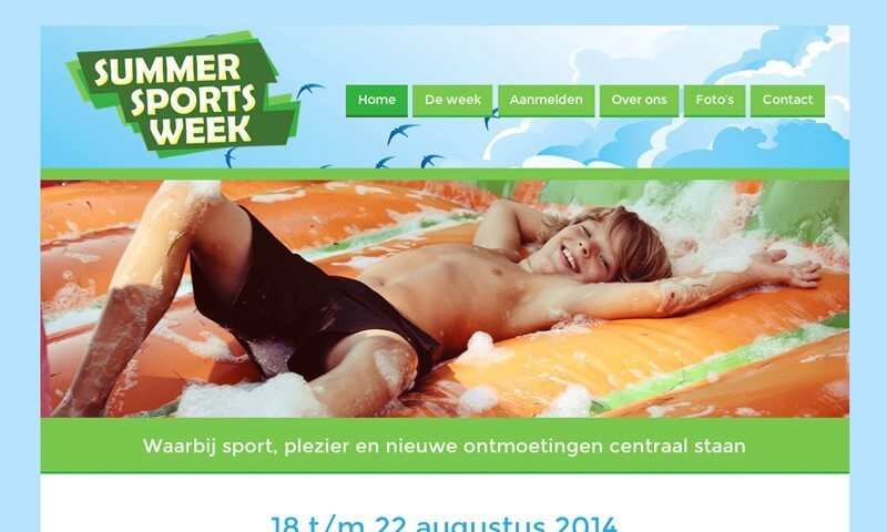 Website Summer Sports Week