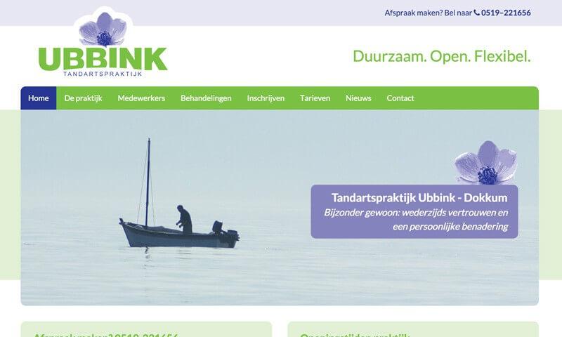 Tandartspraktijk Ubbink website
