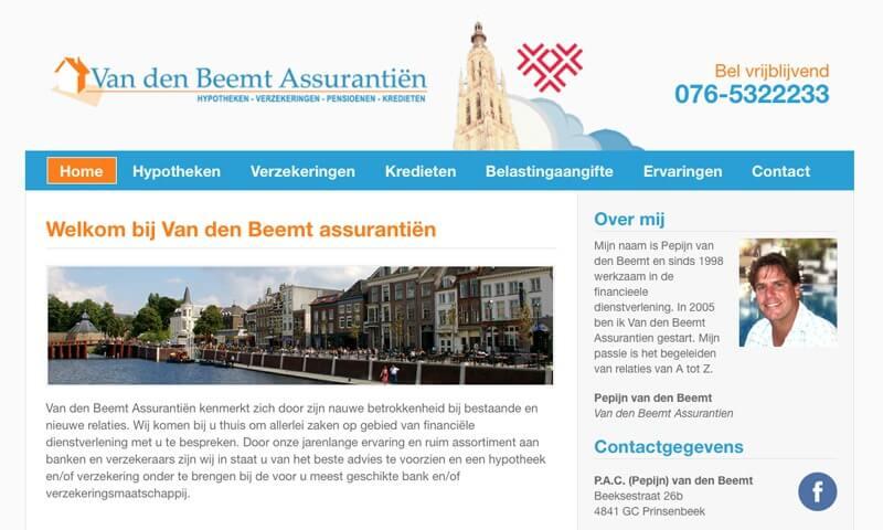 Van den Beemt assurantien website