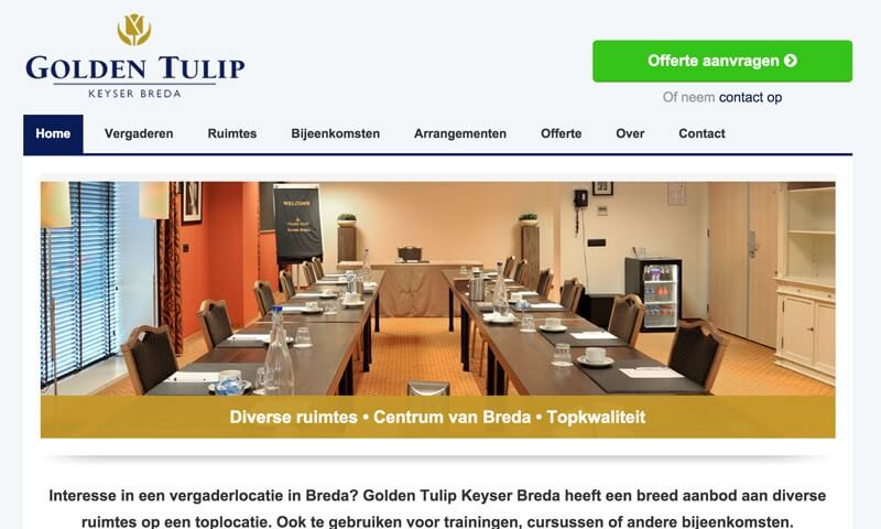 Website vergaderlocatie Breda
