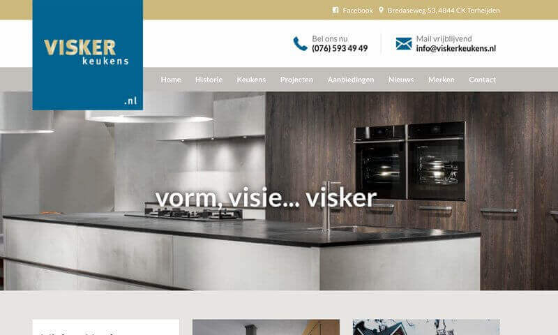 Portfolio website Visker Keukens