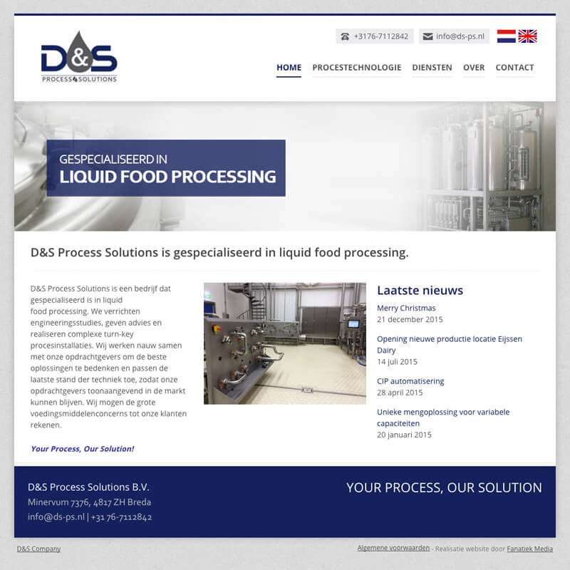 Website Project D&S Process Solutions