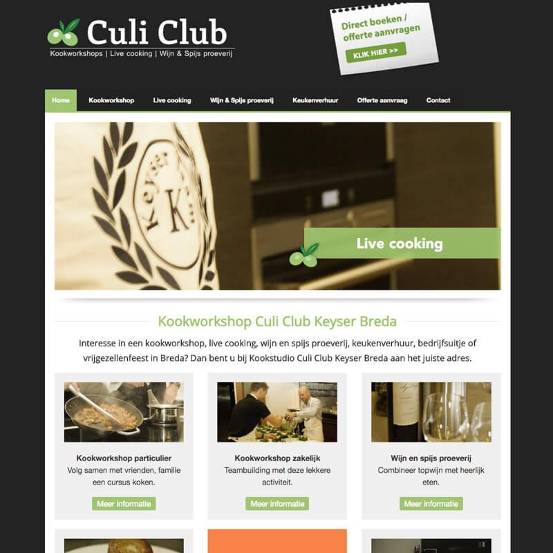 Website project kookworkshop breda