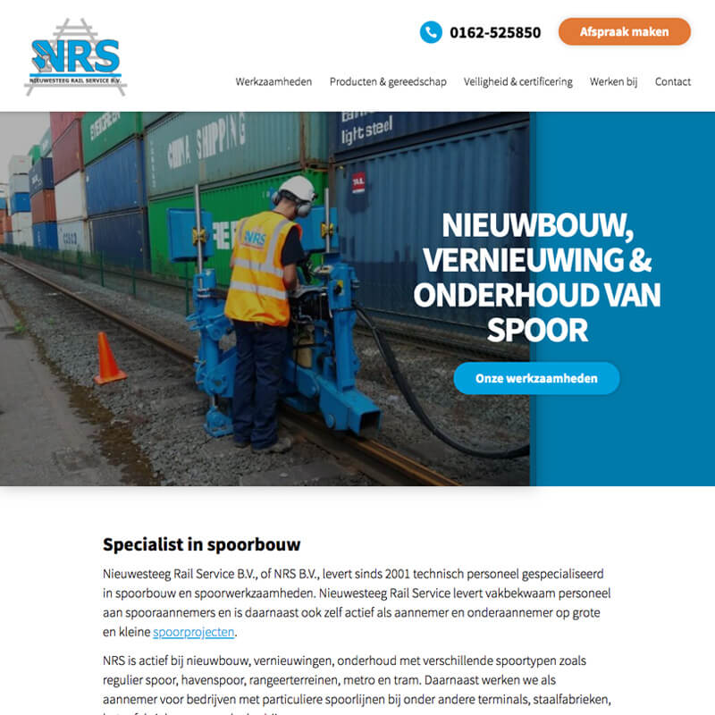 Website project Nieuwesteeg Railservice