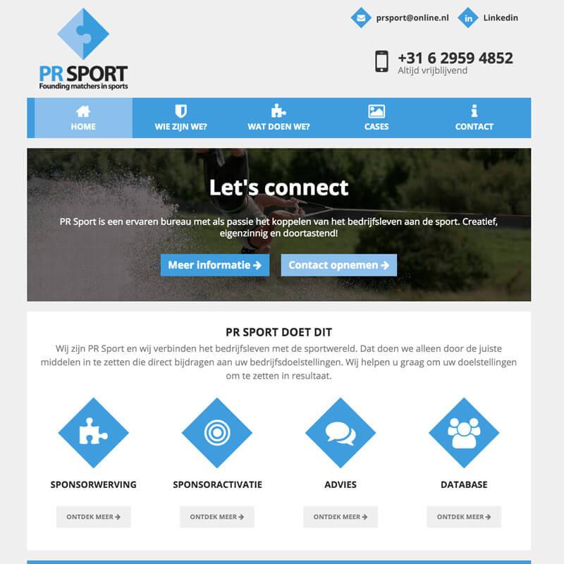 Website project PR Sport