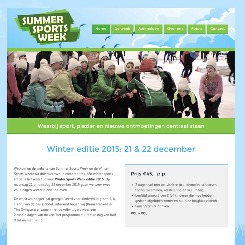 Website project Summer Sports Week