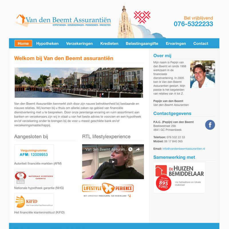 Website project Van den Beemt assurantiën