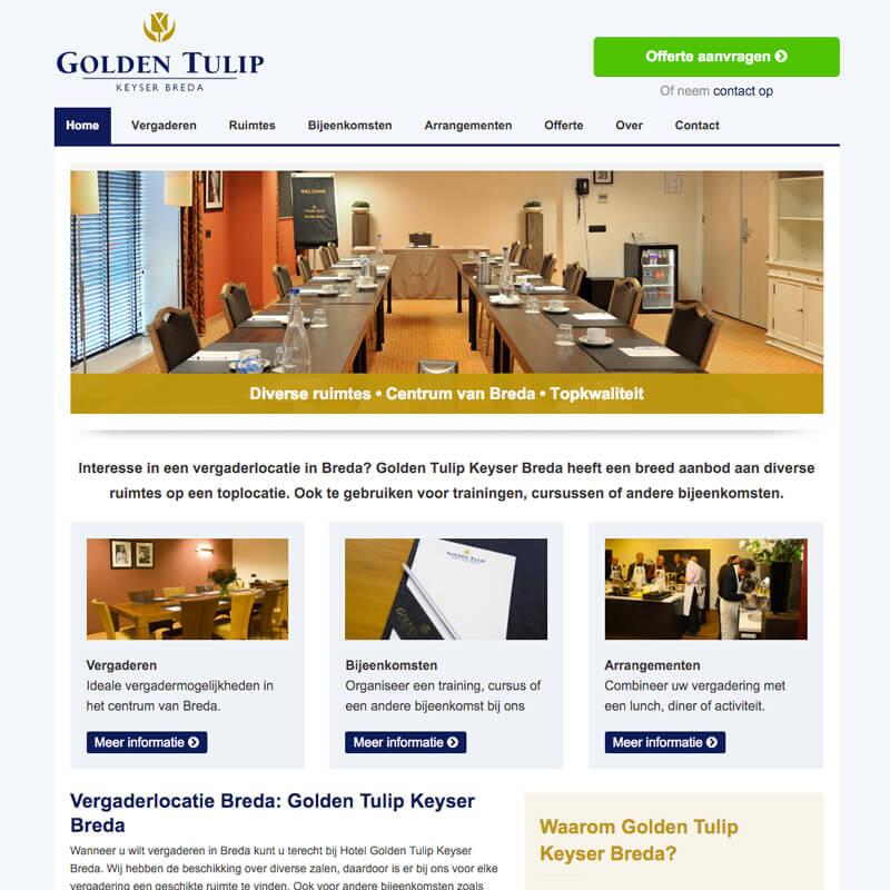 Website project Vergaderlocatie Breda