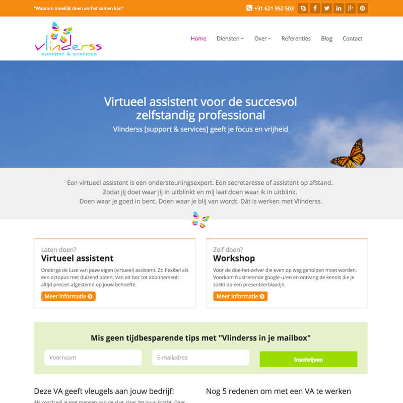 Project Vlinderss website