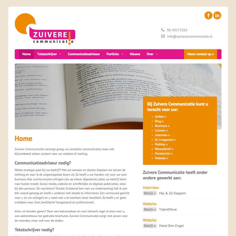 Website project Zuivere communicatie